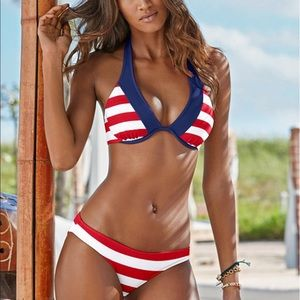 NWOT Red white & blue bathing suit